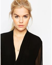 Pieces - Metallic Molly Necklace - Lyst