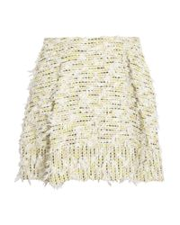 3.1 Phillip Lim Yellow Textured-tweed Mini Skirt