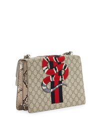 Gucci - Gray Dionysus GG Supreme Canvas And Python Shoulder Bag - Lyst