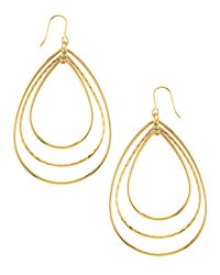 Panacea | Metallic Golden Multi Teardrop Earrings | Lyst