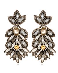 Suzanna Dai | Natural Borghese Large Drop Earrings, Champagne/crystal | Lyst