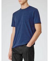 Reiss Blue Felix Salt and Pepper Tshirt for men