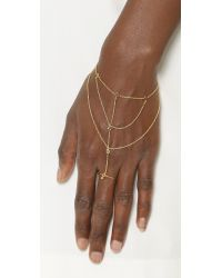 Gorjana   Metallic Dev Ring Hand Piece - Gold   Lyst