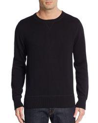 Saks Fifth Avenue | Black Crew Sweatshirt for Men | Lyst