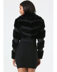 Bebe Black Monica Faux Fur Jacket