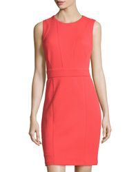 Laundry by Shelli Segal - Orange Sleeveless Textured Knit Dress - Lyst