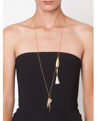 Chloé - Metallic Tassel Detail Necklace - Lyst