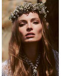 Free People | Yellow Flower Gypsies Womens Babys Breath Flower Crown | Lyst