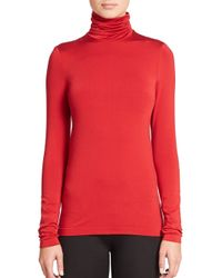 Wolford | Red Luxe Pullover Turtleneck Top | Lyst