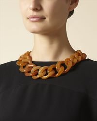 Jaeger Brown Chunky Chain Necklace