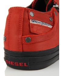 DIESEL - Red Expo-zip Low for Men - Lyst