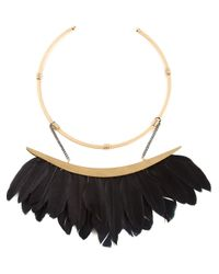 Katerina Psoma - Black Feather Neckpiece - Lyst