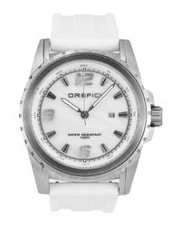 Orefici Watches - White Ibrdio Three-Hand Watch With Rubber Straps for Men - Lyst
