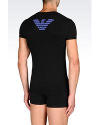 Emporio Armani   Black Undershirt for Men   Lyst