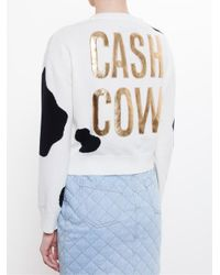 Moschino Black Cash Cow Cropped Sweater