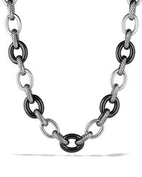 David Yurman - Metallic Oval Extra Large Link Necklace - Lyst