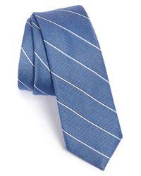 Calibrate Blue Woven Silk Blend Tie for men