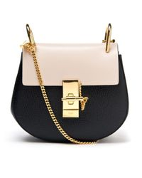 Chloé Black Drew Mini Leather Cross-Body Bag