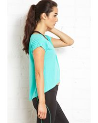 Forever 21 - Blue Yoga Tulip Top - Lyst