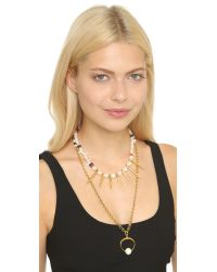 Lizzie Fortunato - Metallic The New Moon Convertible Necklace - Gold Multi - Lyst