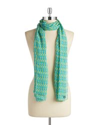 Calvin Klein | Green Abstract Chiffon Scarf | Lyst