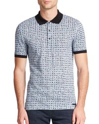 Burberry Brit - White Fellmore Cotton Polo for Men - Lyst
