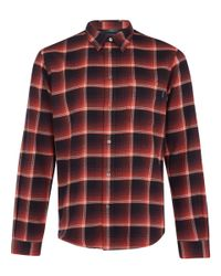 Paul Smith | Red Checked Brushed Cotton Shirt for Men | Lyst