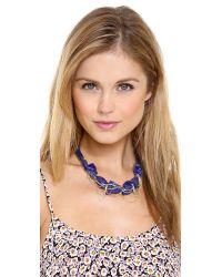 Gemma Redux | Blue Stone Drip Chain Collar Necklace | Lyst