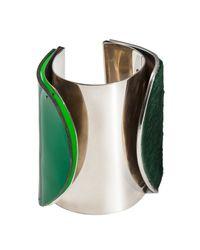 Isabel Englebert - Green London Duet Cuff Silver - Lyst