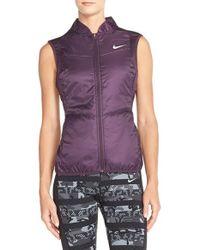 Nike - Purple Polyfill Water-Resistant Vest - Lyst