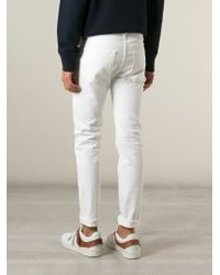 Acne Studios White 'ace' Jeans for men