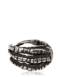 Ann Demeulemeester - Metallic Pigeon Claw Silver Ring - Lyst