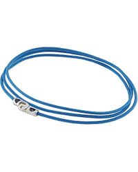 Luis Morais | Blue White Gold And String Bracelet | Lyst