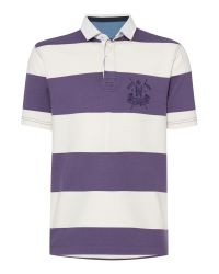 Howick | Purple California Block Stripe Short Sleeve Rugby for Men | Lyst