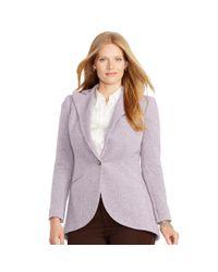 Ralph Lauren | Purple Single-button Wool Jacket | Lyst