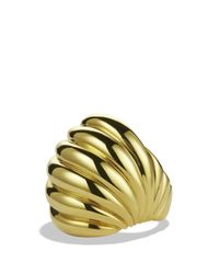 David Yurman Metallic Sculpted Cable Dome Ring