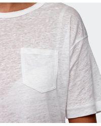 Rag & Bone   White Croppe Deal T-shirt   Lyst