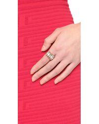 Elizabeth Cole - Metallic Embellished Ring - Lyst