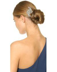 Ben-Amun Metallic Crystal Swirl Hair Comb - Clear