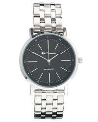 Ben Sherman Metallic Black Dial Stainless Steel Strap Watch Bs087 for men