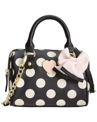Betsey Johnson | Black Mini Crossbody | Lyst