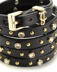 Juicy Couture | Black 5 Wrap Studded Bracelet | Lyst
