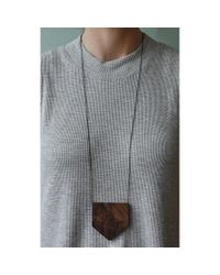 Spectrum | Brown Walnut Necklace | Lyst