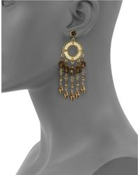 House of Harlow 1960 | Metallic Beaded Chandelier Earrings | Lyst