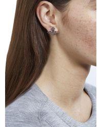 Vivienne Westwood - Metallic Silver Tone Orb Earrings - Lyst