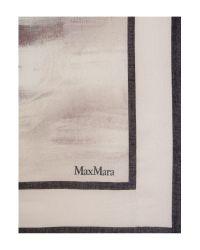 Max Mara Pink Alton Printed Scarf