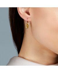 Prismic Earrings - Orange Citrine Prismic Drop Earrings - Lyst