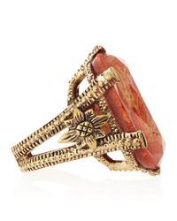 Stephen Dweck   Orange Coral Crystal Quartz Bronze Ring Size 7   Lyst