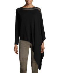 Elie Tahari - Black Amada Draped Sweater - Lyst