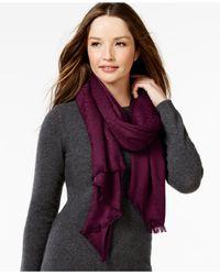 Calvin Klein | Purple Ck Logo Pashmina Wrap | Lyst